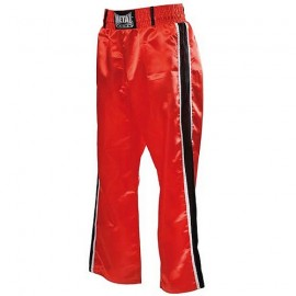 Pantalon de Full Contact Rouge 2 bandes noir/blanc METAL BOXE