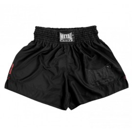 Short boxe thaï Black Light Métal Boxe