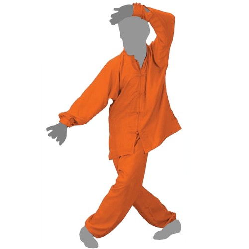 Tenue Tai Chi Confort orange FUJI MAE