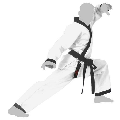 Dobok Hapkido blanc col noir ''Tradition'' FUJI MAE