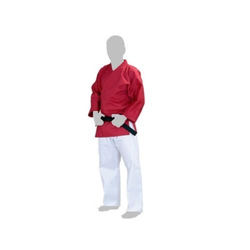 Tenue veste rouge pantalon blanc de Shidokan