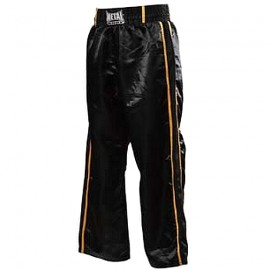 Pantalon de Full Contact Noir 2 bandes dorées METAL BOXE