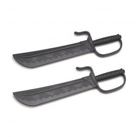 Couteaux papillon d'entraînement noir en plastique PP