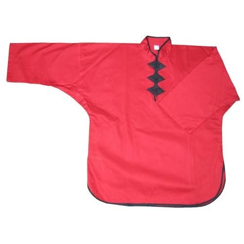 Veste Kung Fu Rouge à 3 boutons FUJI MAE