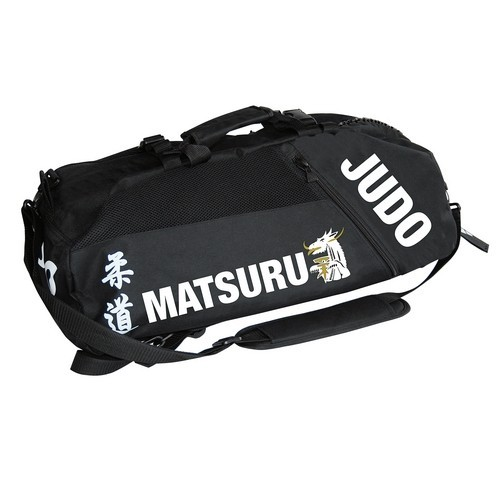 "Sac de sport MATSURU ""JUDO"" tissu noir"
