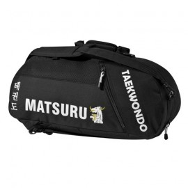 """Sac de sport MATSURU """"TAEKWONDO"""" tissu noir"""