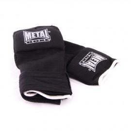 Mitaine sous-gants protège-métacarpien noir METAL BOXE