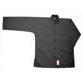 Veste Kung Fu noire coton FUJI MAE