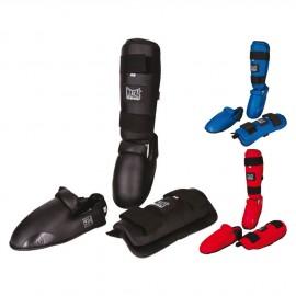 Protège tibias pied amovible et protection du talon METAL BOXE