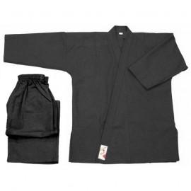 Kimono noir - Vo phuc noir initiation coton 8 oz