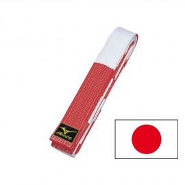 Ceinture Rouge Blanche MIZUNO SENSEI JAPAN
