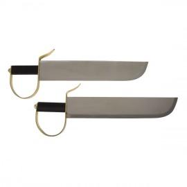 Couteau papillon en acier par paire