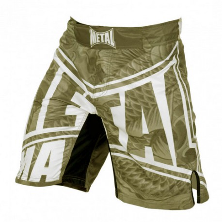 Short MMA Metal Boxe Yakuza gris/vert