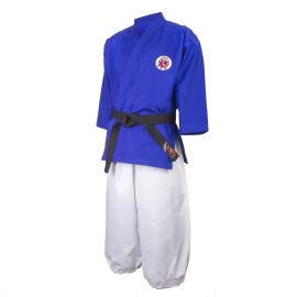 Kimono veste bleue pantalon blanc de Nanbudo
