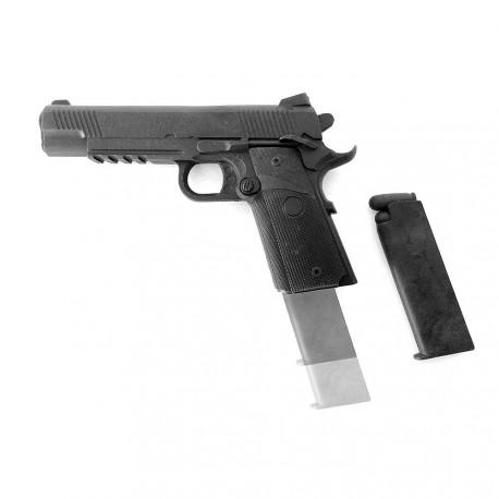 Pistolet en caoutchouc rigide avec chargeur amovible