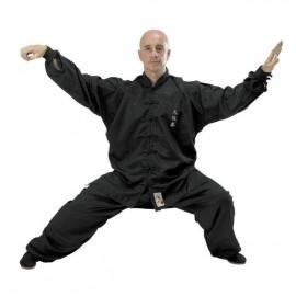 kimono tai chi noir qualité supérieure
