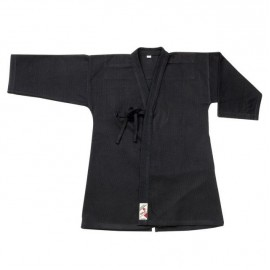 Veste noire seule pour aikido et laido