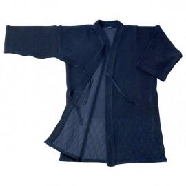 Veste indigo doublée seule pour aikido kendo