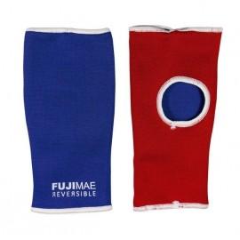 Sous-gants réversibles bleu et rouge