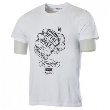 Tee Shirt Poing Métal boxe