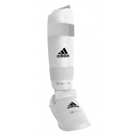 protege-tibia pied adidas-blanc