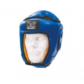 Casque Compétition en cuir METAL BOXE bleu