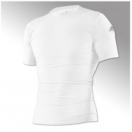 Rashguard adidas blanc-  judo
