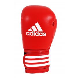 Gants de boxe pro cuir Adidas rouge interieur