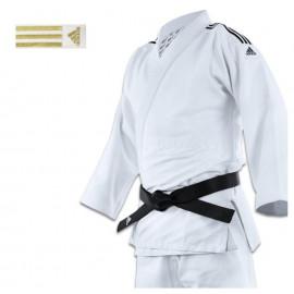 Kimono adidas judo J690 Quest à bandes or intérieur