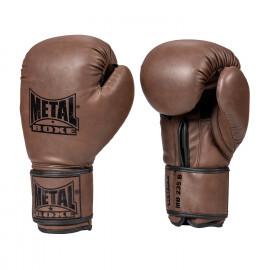 Gants de boxe entrainement marron metal boxe
