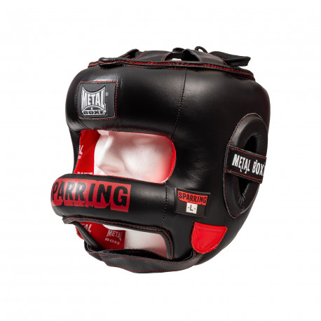 Casque à barre sparring  metal boxe