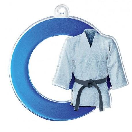 Médaille acrylique arts martiaux judo