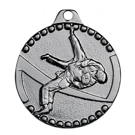 Médaille frappée judo argent économique