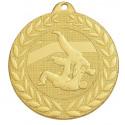 Médaille frappée judo or/argent/bronze - 50 mm