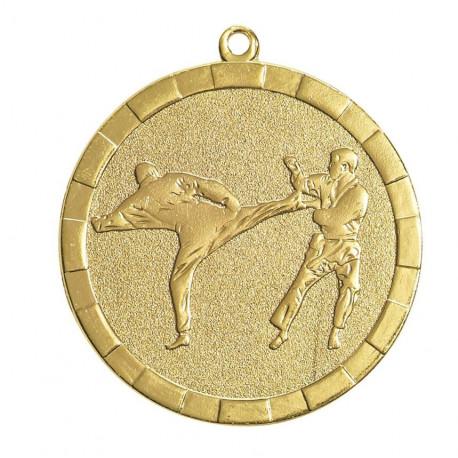 Médaille frappée karaté or - 50 mm