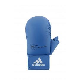 Mitaines / Gants Karate WKF avec pouce Bleu ADIDAS