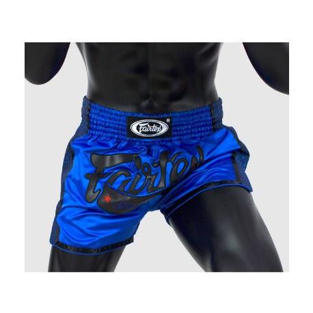 Short de boxe Thaï Fairtex bleu