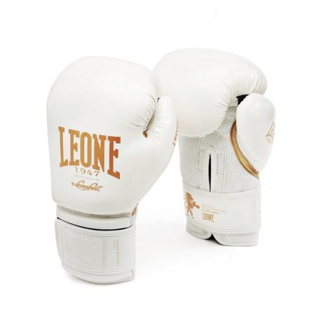 "Gants de Boxe ""Black and white"" LEONE blanc"
