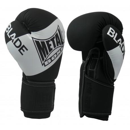 Gants de boxe Blade Black and White métal boxe