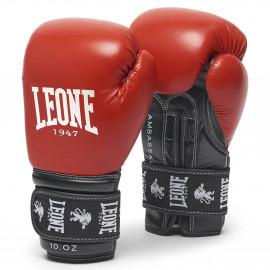 gants de boxe Ambassador LEONE rouge