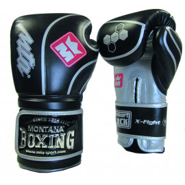 Gants de boxe cuir  Montana X FIGHT evo blackforce