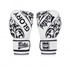 Gants de boxe blanc Glory Fairtex
