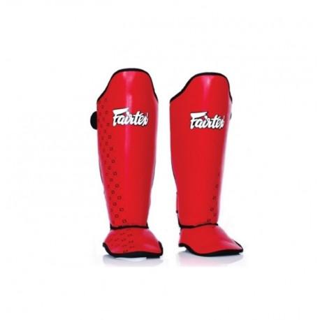 Protége tibias et pieds Fairtex rouge