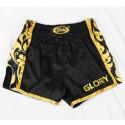 Short Boxe Thaï Glory noir/or Fairtex