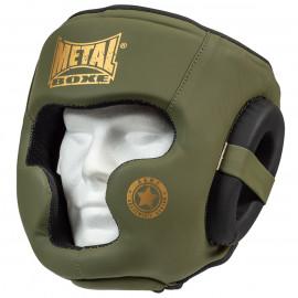 Casque intégral military métal boxe
