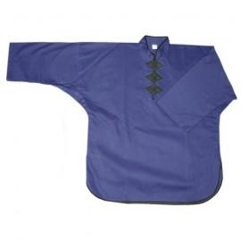 Veste Kung Fu Bleue à 3 boutons FUJI MAE