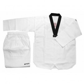 Dobok Taekwondo Sang Kup col noir